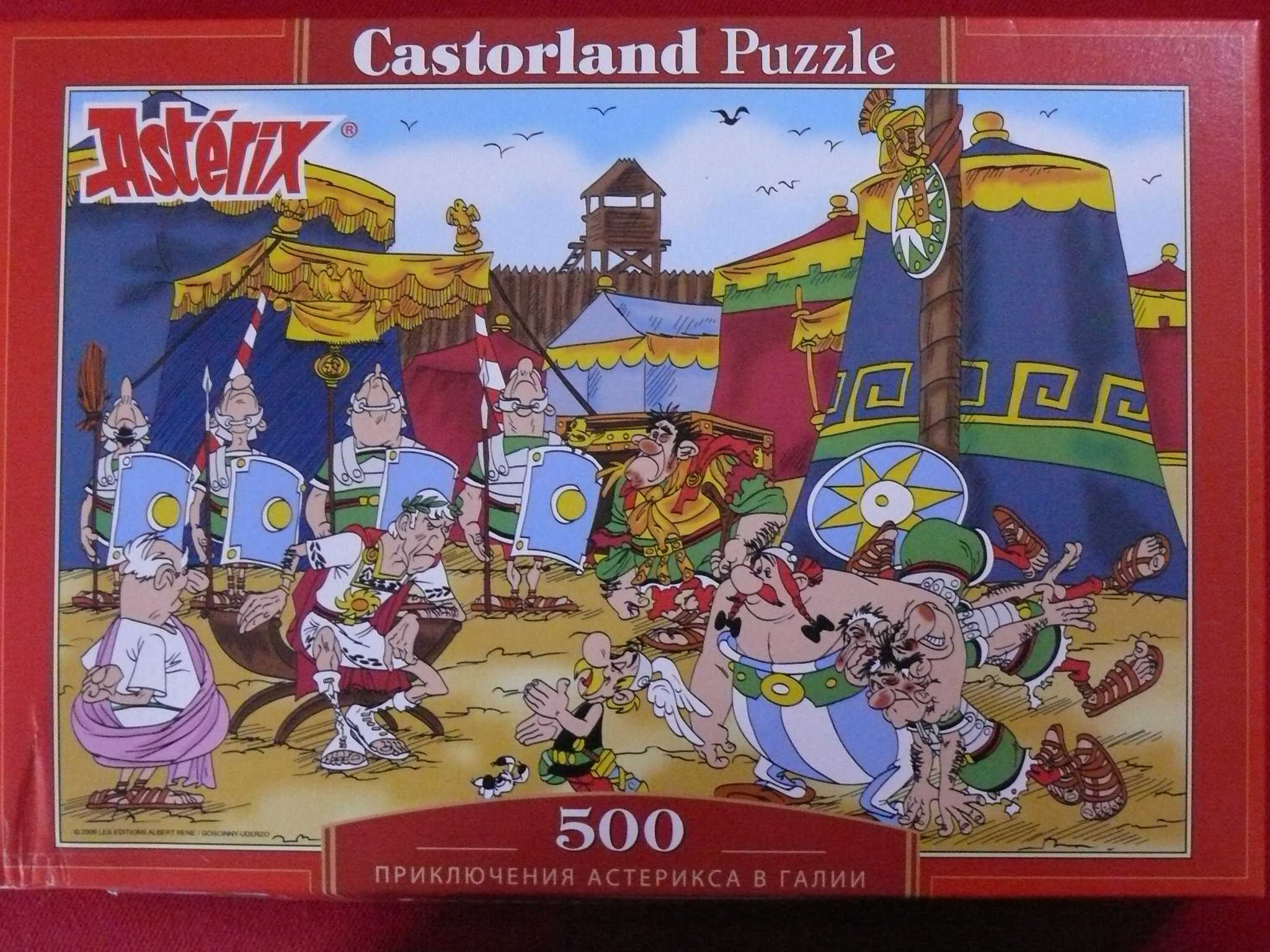 Puzzles - Castorland Ast%C3%A9rix%20et%20Ob%C3%A9lix,%20dans%20le%20camp%20romain